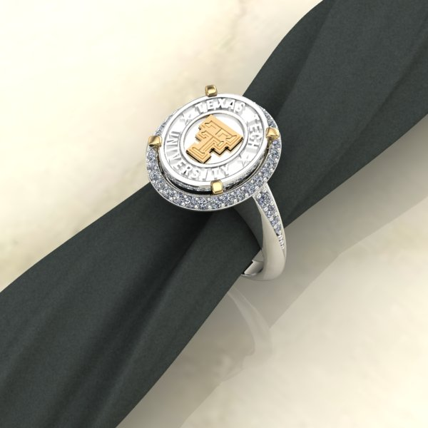 Texas Tech Solid Foundations Ladies Ring