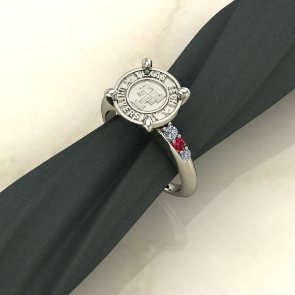 Texas Tech Jewelry Diamontrigue Jewelry: Texas Tech Simple Sophistication Ring