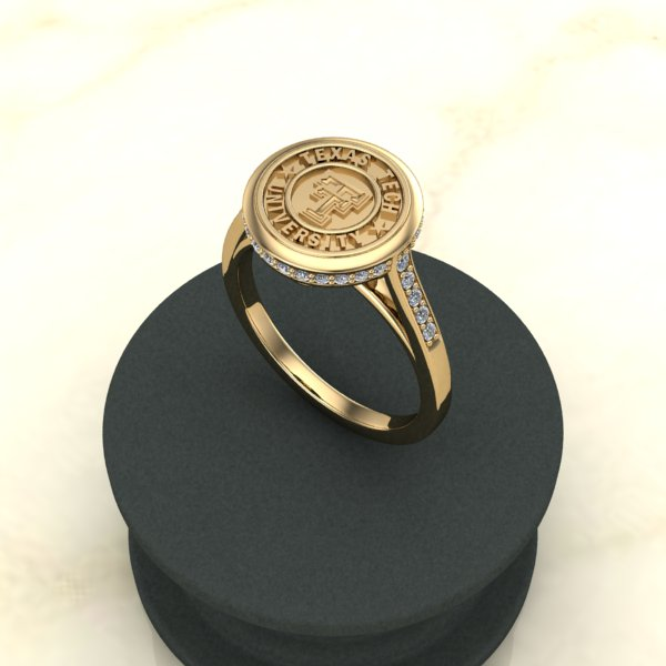 Pop Perfect Ring Diamontrigue Jewelry: Texas Tech Classic Elegance Ladies Ring