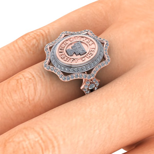 Texas Tech Vintage Victory (Roselyn) Ring