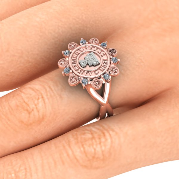 Texas Tech Vintage Lace Ring