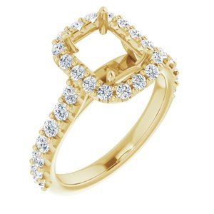 Semi-Set Engagement Ring