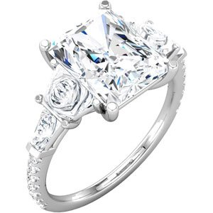 Emerald Engagement Ring Mounting