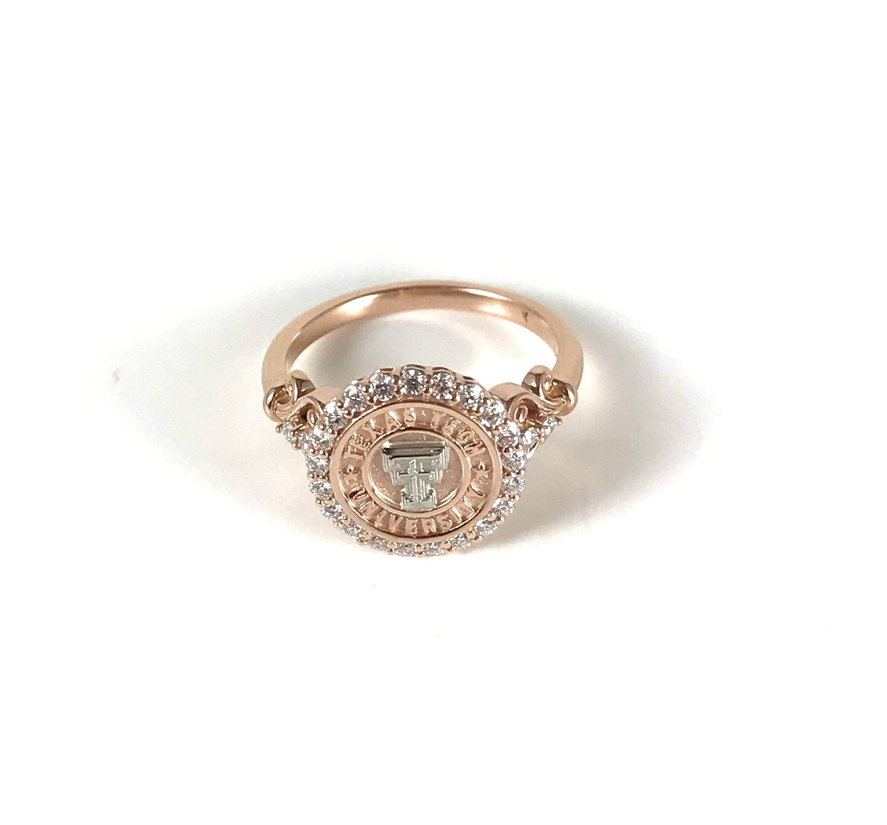 Texas Tech Scrolled Simplicity Ring